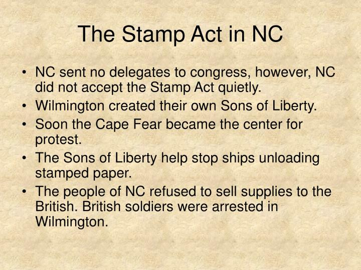The stamp act in nc