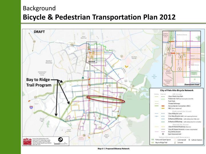 Background bicycle pedestrian transportation plan 20121