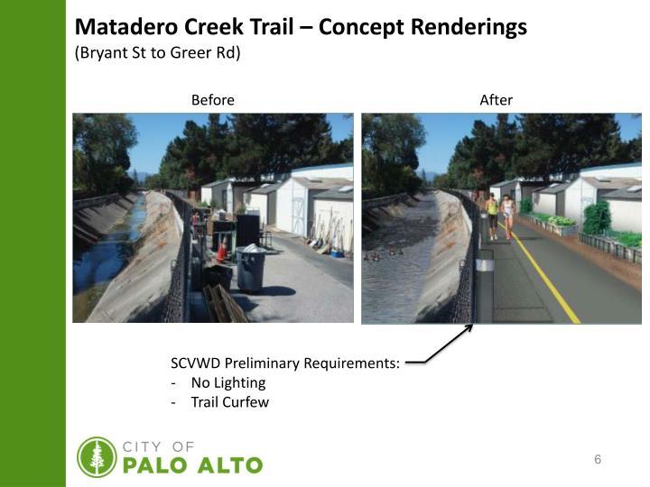 Matadero Creek Trail – Concept Renderings