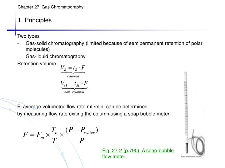 PPT - Chapter 27 Gas Chromatography 1  Principles PowerPoint