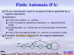 finite automata fa