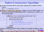 subset construction algorithm