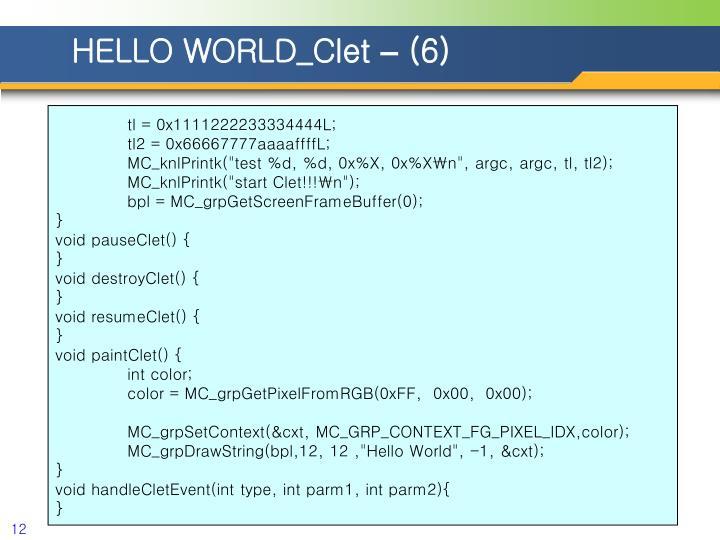 HELLO WORLD_Clet