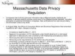 massachusetts data privacy regulation