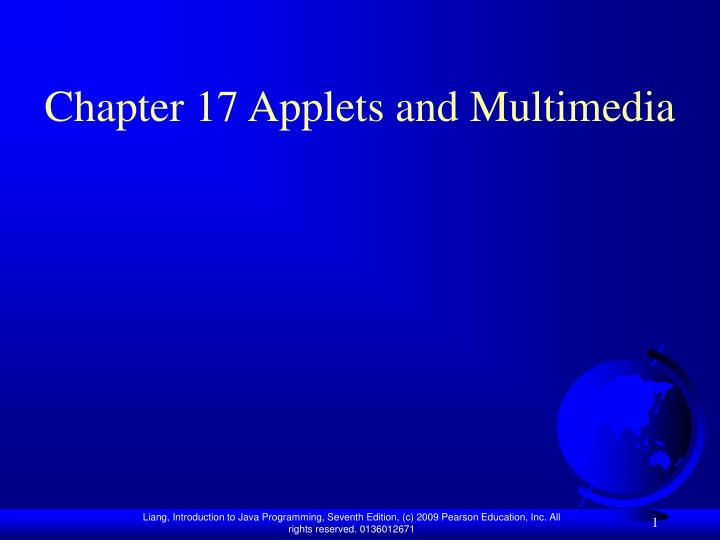 chapter 17 applets and multimedia