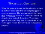 the applet class cont