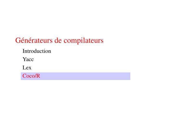 Générateurs de compilateurs