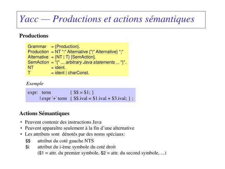 Actions Sémantiques