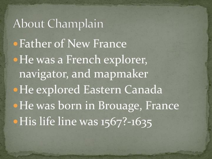 About champlain