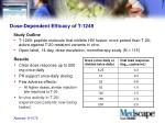 dose dependent efficacy of t 1249