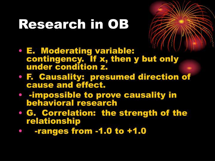 Research in ob1