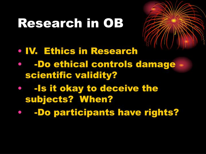 Research in OB