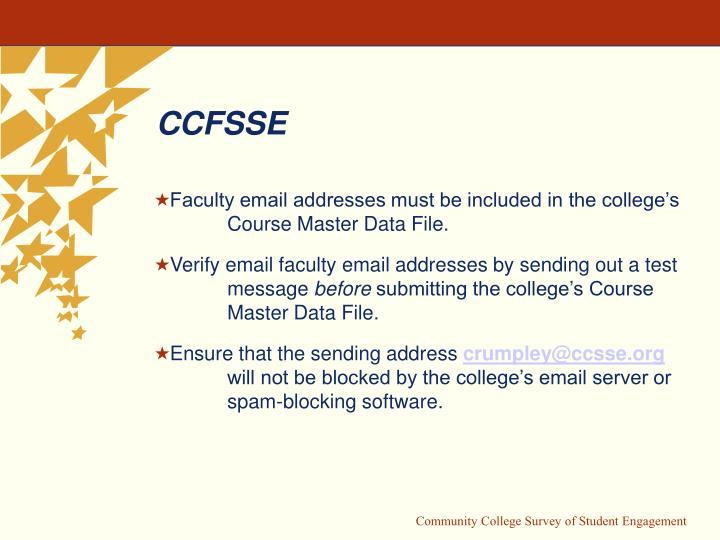 CCFSSE