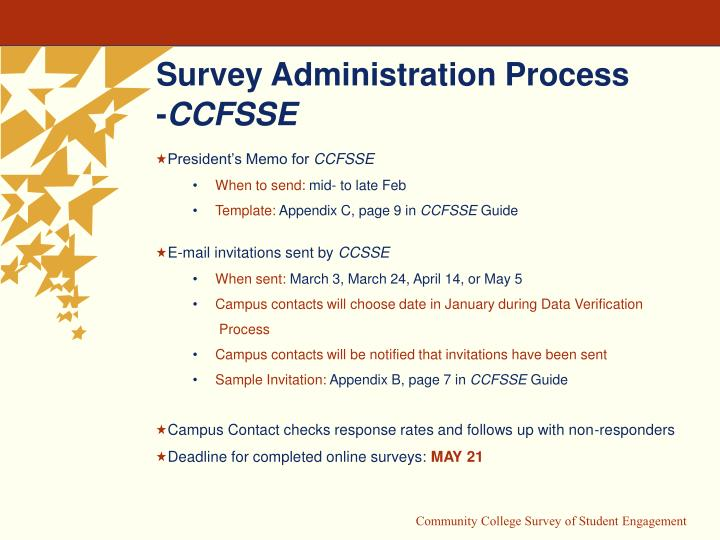 Survey Administration Process