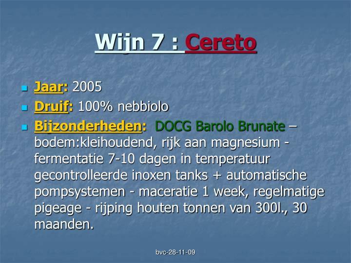 Wijn 7 :