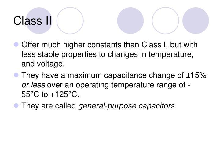 Class II