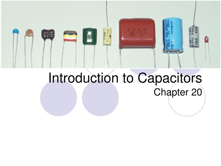 Introduction to capacitors