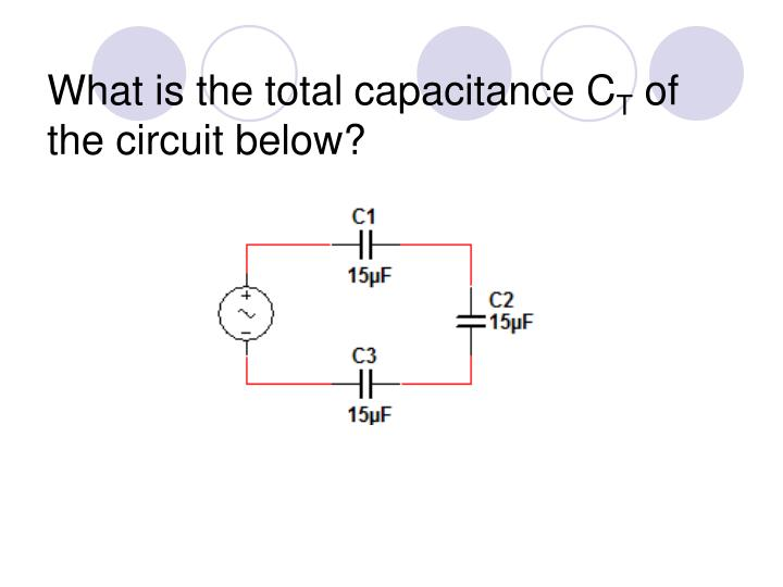 What is the total capacitance C