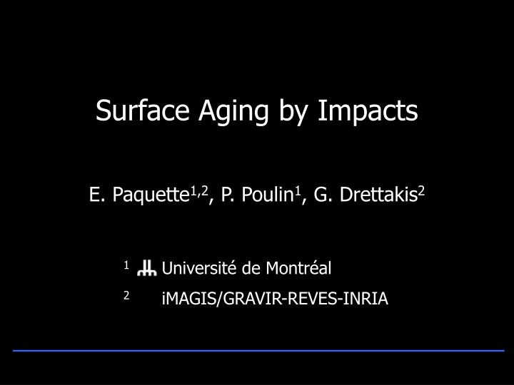surface aging by impacts n.