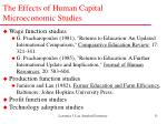 the effects of human capital microeconomic studies