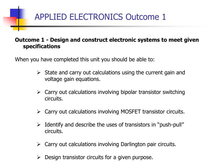 Applied electronics outcome 11