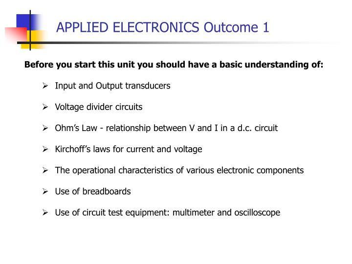 Applied electronics outcome 12