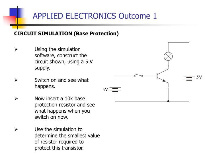 APPLIED ELECTRONICS Outcome 1
