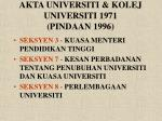 akta universiti kolej universiti 1971 pindaan 1996