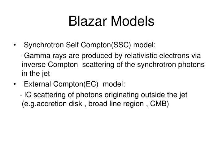 Blazar Models