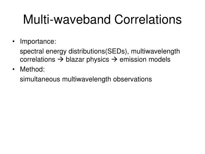 Multi-waveband Correlations