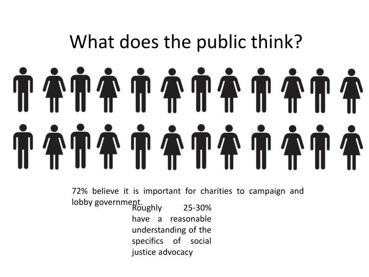 What does the public think?
