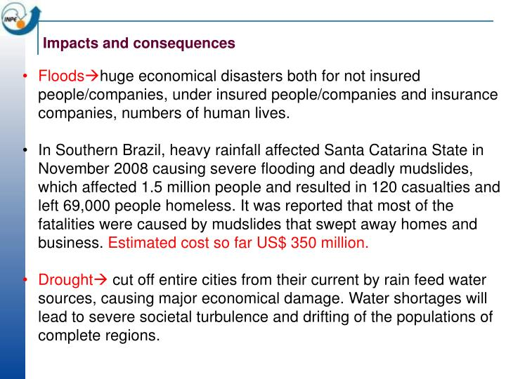 Impacts and consequences
