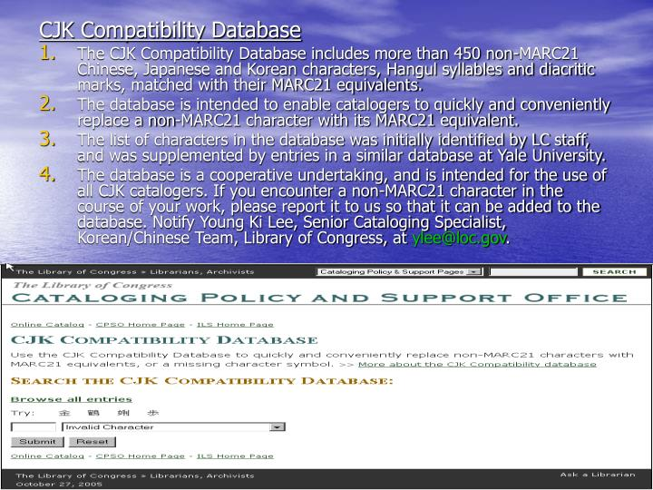CJK Compatibility Database