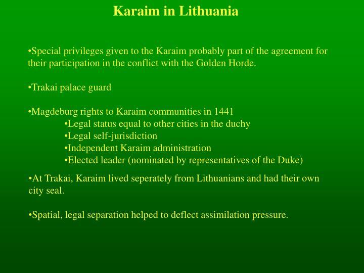 Karaim in Lithuania