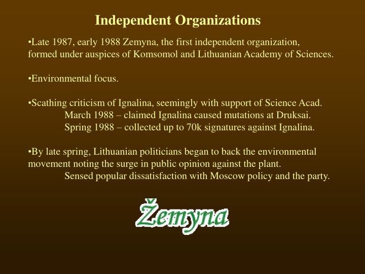 Independent Organizations