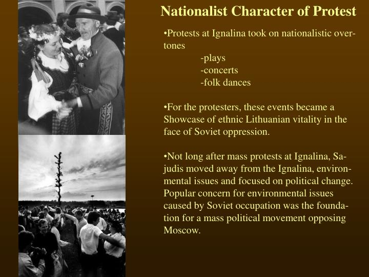 Nationalist Character of Protest