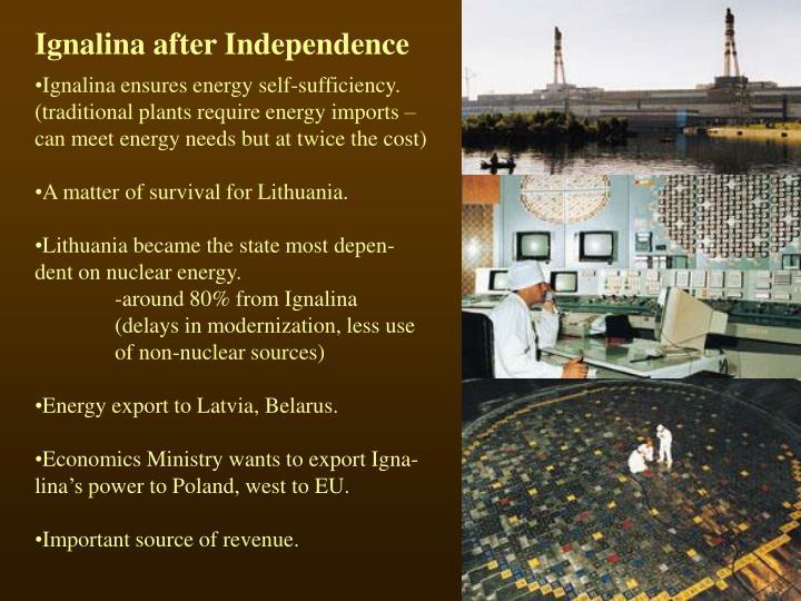 Ignalina after Independence
