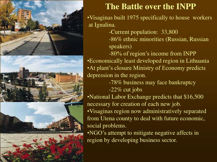 The Battle over the INPP