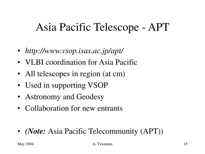 Asia Pacific Telescope - APT