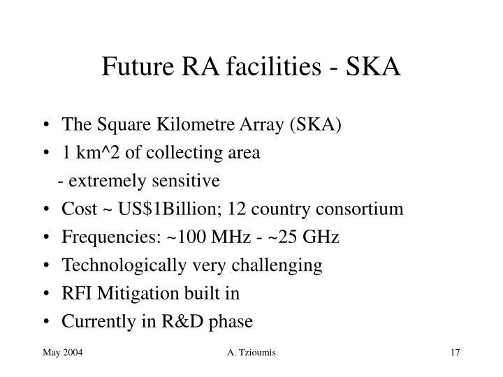 Future RA facilities - SKA
