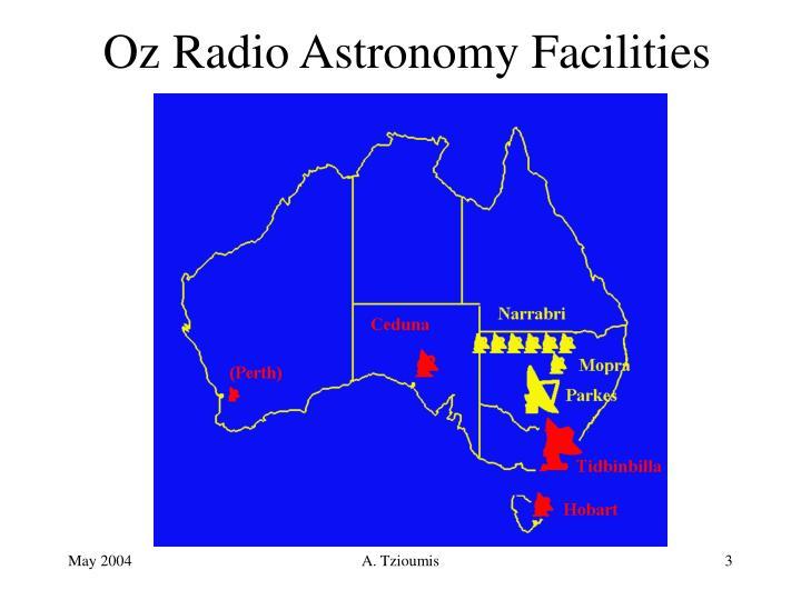 Oz radio astronomy facilities