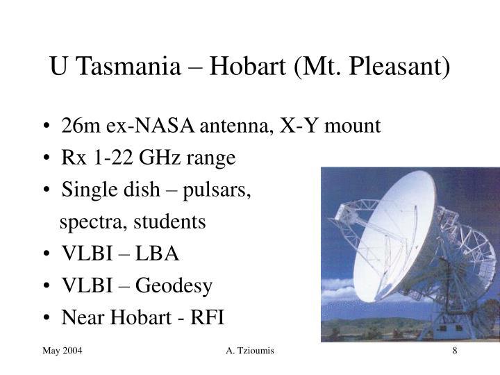 U Tasmania – Hobart (Mt. Pleasant)