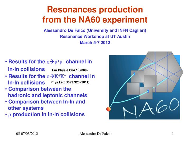 Resonances production from the na60 experiment
