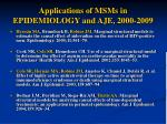 applications of msms in epidemiology and aje 2000 2009