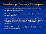 functional performance knee pain
