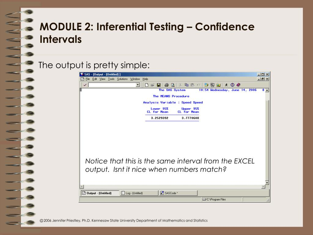 PPT - INPO Statistics Workshop: Notes and Exercises using EXCEL and