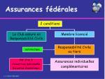 assurances f d rales