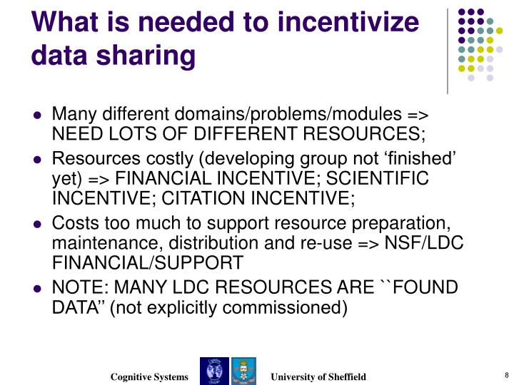 What is needed to incentivize data sharing