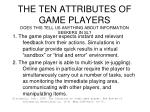 the ten attributes of game players does this tell us anything about information seekers in sl