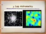 lep astrometry